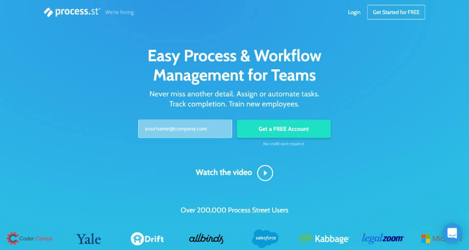 SEO project management tool: process.st