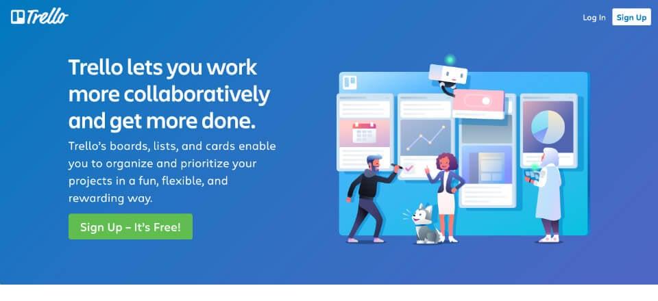 seo project management tool: trello