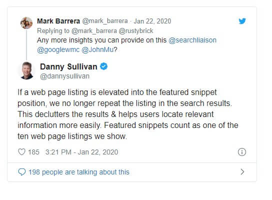 rich snippets statement from google