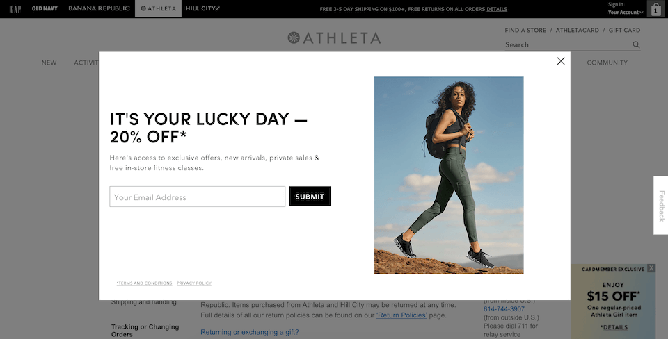 example of how special offers improve ecommerce website conversion rates