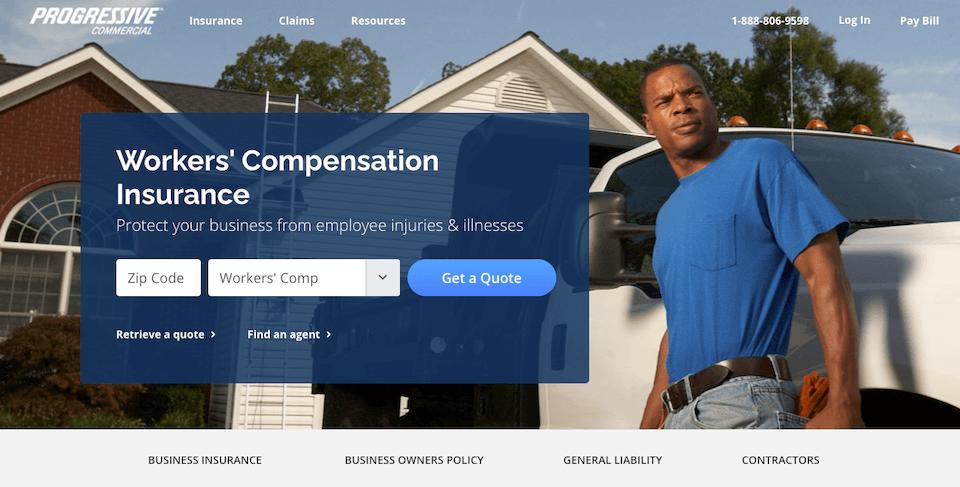 example of insurance lead gen landing page by progressive